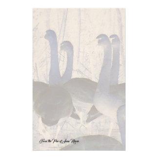 Tundra Swan Birds Wildlife Animals Stationery