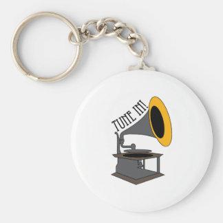 Tune In Keychains