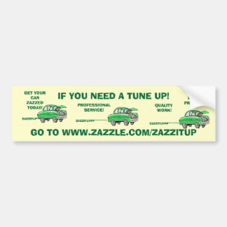 TUNE UP! Bumper Sticker
