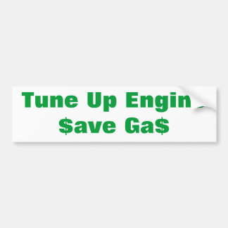 Tune Up Your Car's Engine Car Bumper Sticker