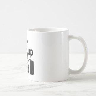 Tuned up basic white mug