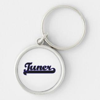 Tuner Classic Job Design Silver-Colored Round Keychain