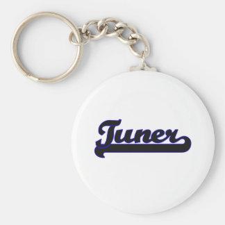 Tuner Classic Job Design Basic Round Button Keychain