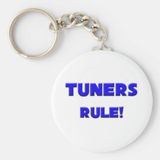 Tuners Rule! Basic Round Button Key Ring