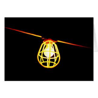 Tungsten light bulb greeting card
