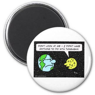 tunguska meteorite earth moon 6 cm round magnet