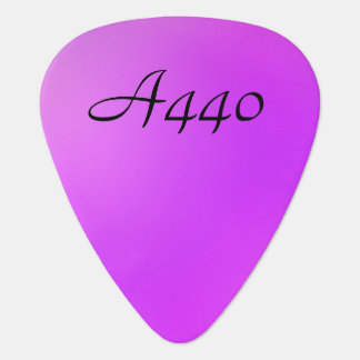 Tuning Up in Pink Guitar Pick
