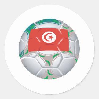 Tunisan Soccer Ball Round Sticker