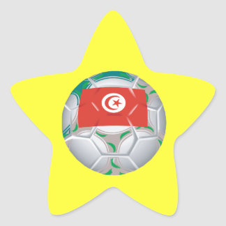 Tunisan Soccer Ball Star Sticker
