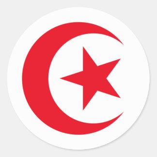 Tunisia 2 round sticker