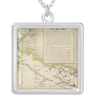 Tunisia and Libya Silver Plated Necklace