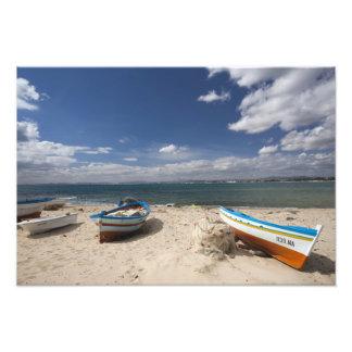 Tunisia, Cap Bon, Hammamet, fishing boats on Photo Art