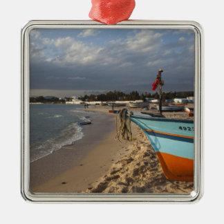 Tunisia, Cap Bon, Hammamet, waterfront, Christmas Ornament