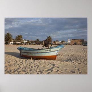 Tunisia, Cap Bon, Hammamet, waterfront, Kasbah Poster
