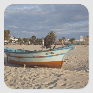 Tunisia, Cap Bon, Hammamet, waterfront, Kasbah Square Sticker