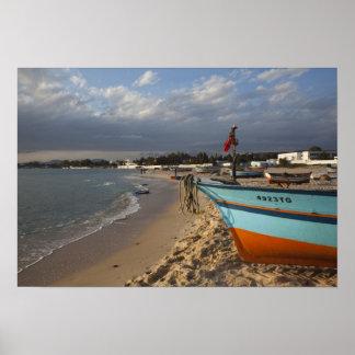 Tunisia, Cap Bon, Hammamet, waterfront, Poster