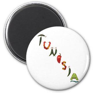 Tunisia Chili Peppers 6 Cm Round Magnet