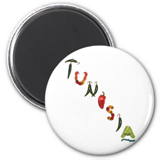 Tunisia Chili Peppers Fridge Magnets