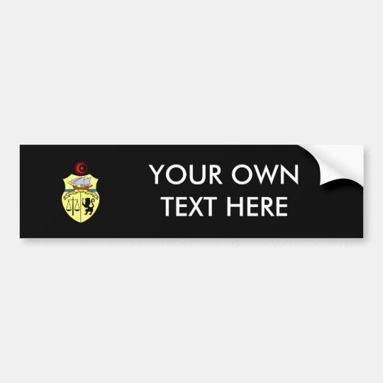 Tunisia Coat of Arms Bumper Sticker