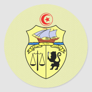 Tunisia Coat of Arms detail Round Sticker