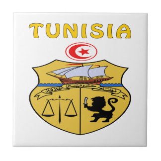 Tunisia Coat Of Arms Ceramic Tile