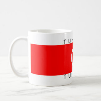 tunisia country flag name text symbol tunisie coffee mug