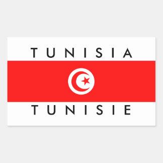 tunisia country flag name text symbol tunisie rectangular sticker