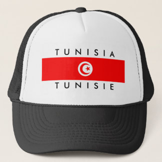 tunisia country flag name text symbol tunisie trucker hat