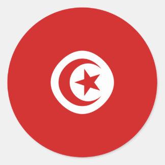 Tunisia Fisheye Flag Sticker