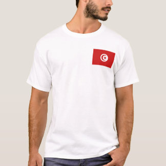 Tunisia Flag and Map T-Shirt