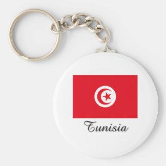 Tunisia Flag Design Key Ring