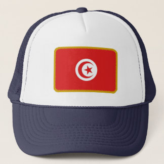 Tunisia flag embroidered effect hat
