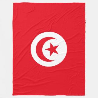 Tunisia Flag Fleece Blanket