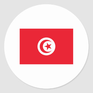 Tunisia FLAG International Round Sticker