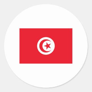 Tunisia FLAG International Round Sticker
