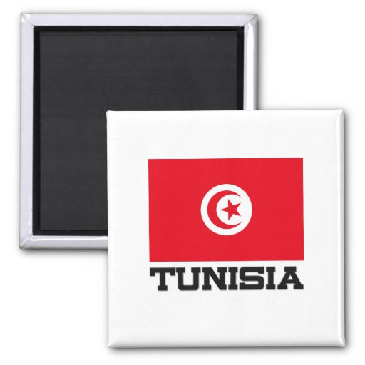 Tunisia Flag Refrigerator Magnets