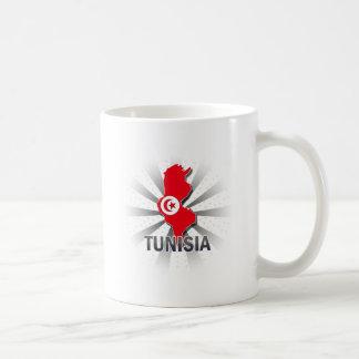 Tunisia Flag Map 2.0 Coffee Mug