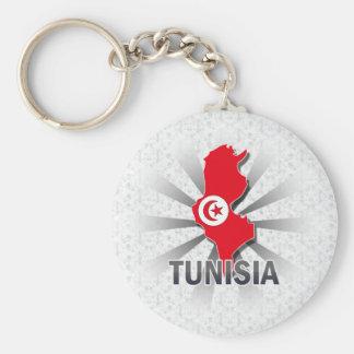 Tunisia Flag Map 2.0 Key Ring