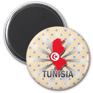 Tunisia Flag Map 2.0 Refrigerator Magnet