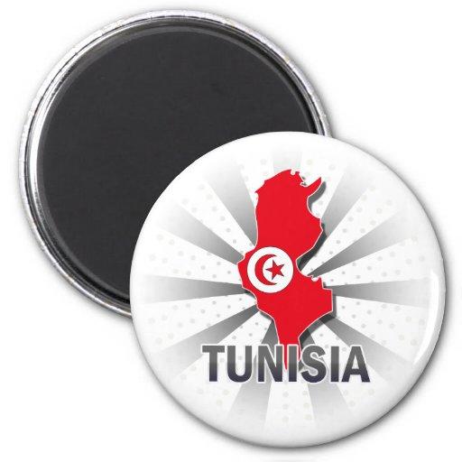 Tunisia Flag Map 2.0 Refrigerator Magnets