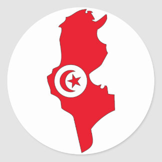 Tunisia flag map stickers
