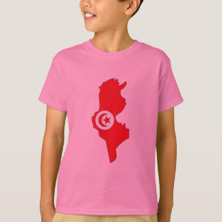 Tunisia flag map T-Shirt