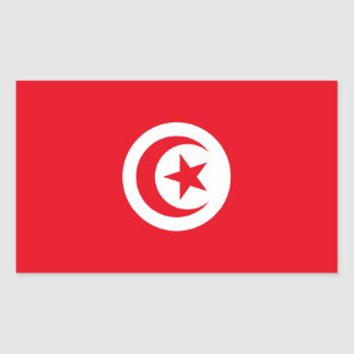 Tunisia Flag Rectangular Sticker