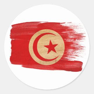 Tunisia Flag Round Sticker