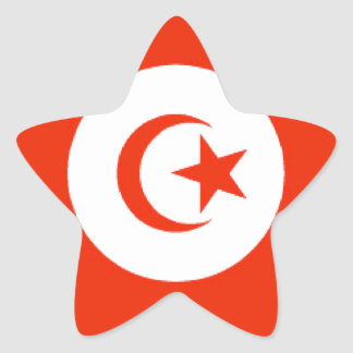 Tunisia Flag Star Stickers