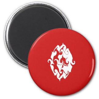 Tunisia Gnarly Flag 6 Cm Round Magnet