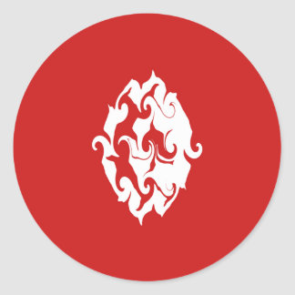 Tunisia Gnarly Flag Round Sticker