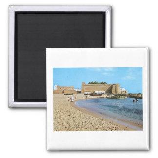 Tunisia  hammamet Beach Square Magnet