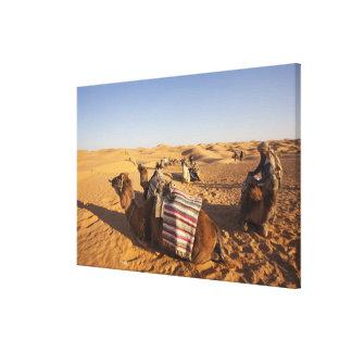 Tunisia, Ksour Area, Ksar Ghilane, Grand Erg 3 Canvas Print