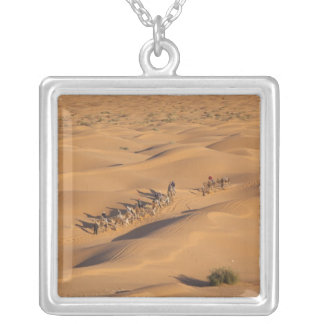 Tunisia, Ksour Area, Ksar Ghilane, Grand Erg 4 Silver Plated Necklace